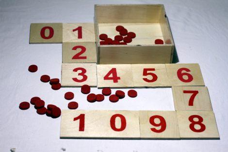 Düğmeli Sayı Kartları