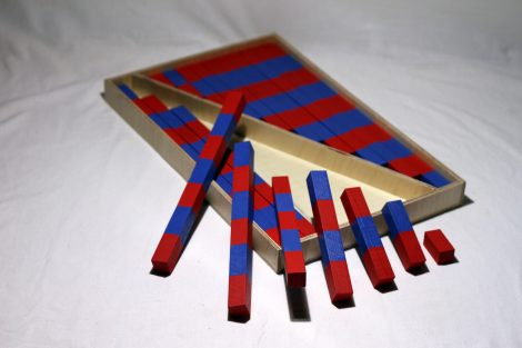 Kırmızı Mavi Çubuklar – Küçük Boy İkili Set