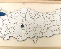 Ahşap Çerçeveli Türkiye Haritası